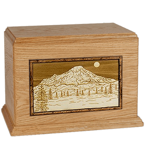Mt Rainer Oak Companion Urn