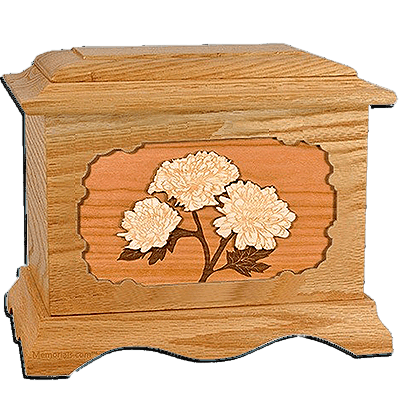 Mums Oak Cremation Urn for Two