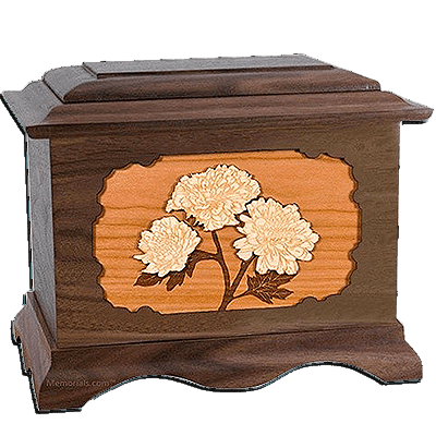 Mums Walnut Cremation Urn For Two