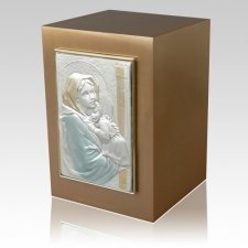 Madonna with Child Bronze Cremation Urn