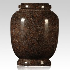 Mahogany Traditional Granite Cremation Urn