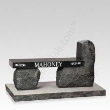 Rustic Rock Cemetery Bench
