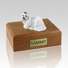 Maltese Blue Ribbon Large Dog Urn