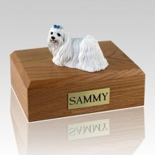 Maltese Blue Ribbon X Large Dog Urn