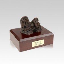 Maltese Bronze Small Dog Urn