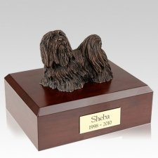 Maltese Bronze X Large Dog Urn