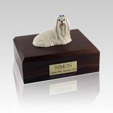 Maltese Sitting Medium Dog Urn