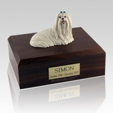 Maltese Sitting X Large Dog Urn