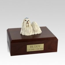 Maltese Medium Dog Urn