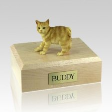 Manx Red Taby Large Cat Cremation Urn