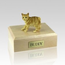 Manx Red Taby Medium Cat Cremation Urn