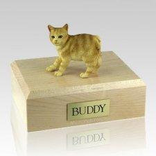 Manx Red Taby X Large Cat Cremation Urn