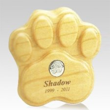 Maple Paw Print Pet Keepsake Urn