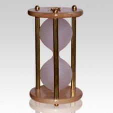 Hourglass Brass Keepsake Urn