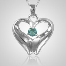 March Birthstone Cremation Heart