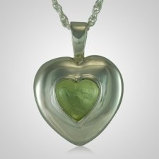 March Cremation Heart Pendant