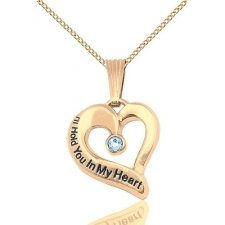 March Gold Heart Keepsake