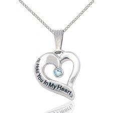 March Silver Heart Keepsake