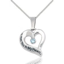 March Heart Keepsake Jewelry
