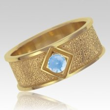 March Birthstone 14k Yellow Gold Ring Print Keepsake