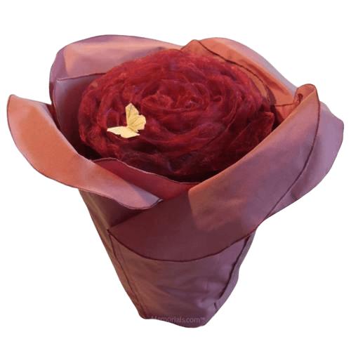 Mauve Rose Cremation Urn