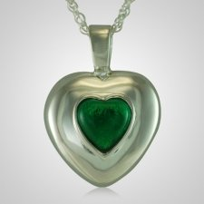 May Cremation Heart Pendant