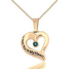 May Gold Heart Keepsake