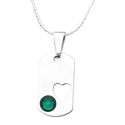 May Heart Cremation Pendant