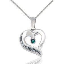May Silver Heart Keepsake