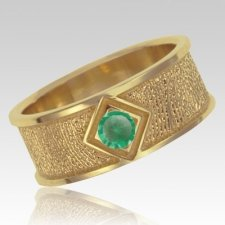 May Birthstone 14k Yellow Gold Ring Print Keepsake