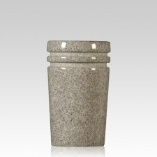 Medium Gray Tapered Granite Vase