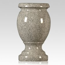 Medium Gray Granite Vase