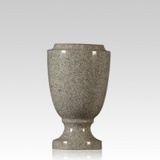 Medium Gray Victorian Granite Vase