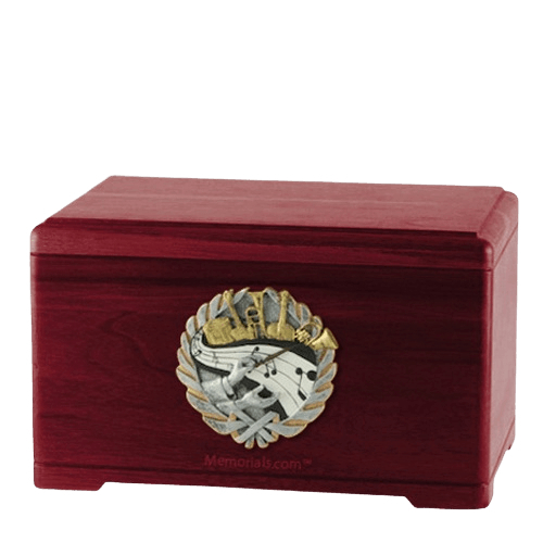 Melodic Rosewood Cremation Urn