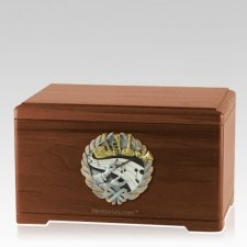 Melodic Walnut Cremation Urn