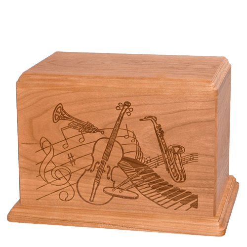 Melody Companion Cherry Wood Urn