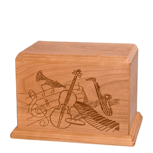 Melody Individual Cherry Wood Urn
