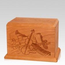 Melody Individual Mahogany Wood Urn