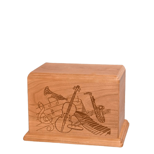 Melody Small Cherry Wood Urn