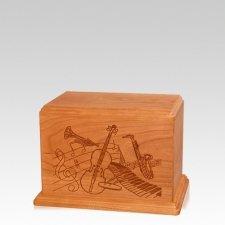 Melody Small Mahogany Wood Urn