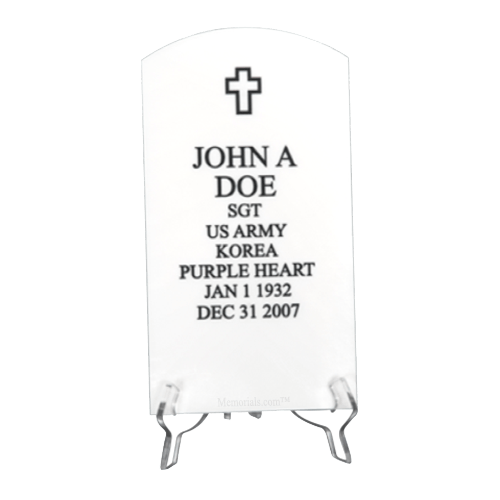 Veteran White Headstone Plaque