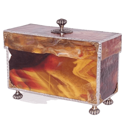 Memory Glass Chest Cremation Urn for Two