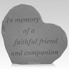 Memory Heart Memorial Stone