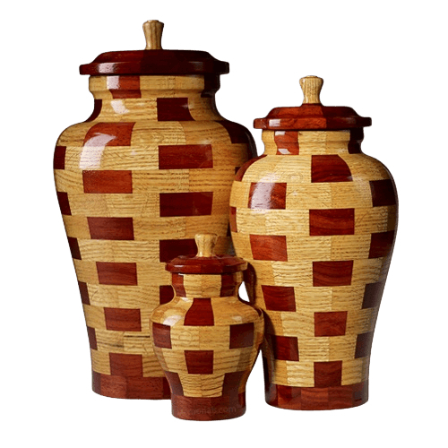Memphis Wood Cremation Urns