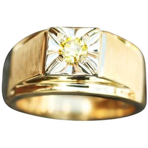 Mens Illusion Solitaire Ring