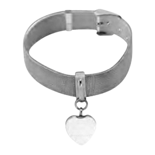 Mesh Heart Cremation Bracelet