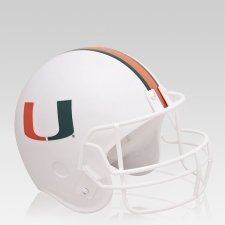 Miami Hurricanes Football Helmet Urn