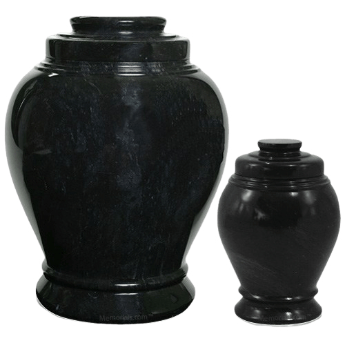 Midnight Marble Cremation Urns