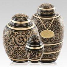 Midnight Ornate Cremation Urns