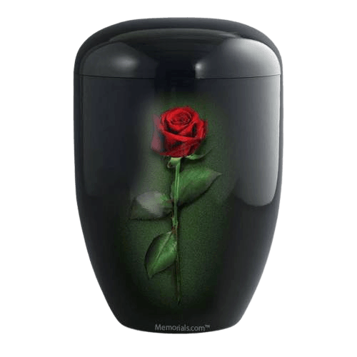 Midnight Rose Biodegradable Urn